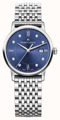Maurice Lacroix Dial eliros mujer azul acero inoxidable EL1094-SS002-450-1