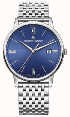 Maurice Lacroix Brazalete de acero inoxidable con dial azul Eliros mens EL1118-SS002-410-2
