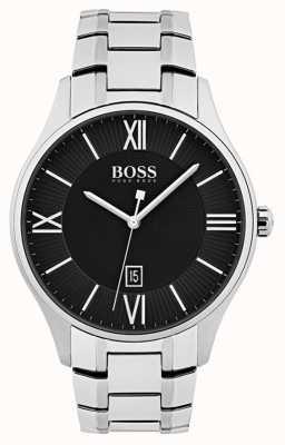 Hugo Boss Reloj gobernador para hombre esfera negra 1513488