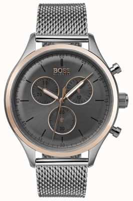 Hugo Boss Reloj de cronógrafo compañero de hombre gris 1513549