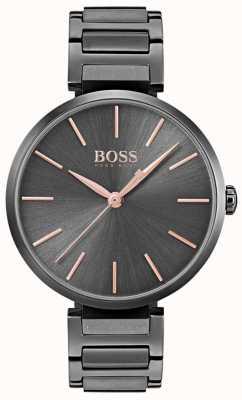 Hugo Boss Alusión para mujer reloj acero chapado en hierro negro 1502416