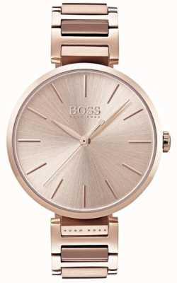 Hugo Boss Reloj de alusión para mujer en tono dorado rosa 1502418