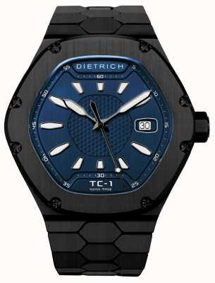 Dietrich Tiempo acompañante automático pvd negro dial azul TC-1 PVD BLUE