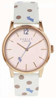 Radley Reloj de punto para mujer vintage con esfera rosa RY2566