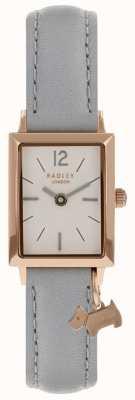 Radley Reloj de mujer primavera rosa correa de cuero gris RY2532