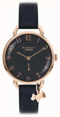 Radley Reloj para mujer Southwark Park correa de cuero negro RY2548
