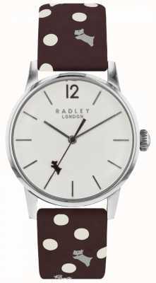 Radley Reloj para mujer de punto blanco con esfera blanca RY2565