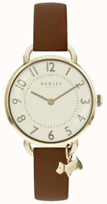 Radley Reloj para mujer Southwark Park correa de cuero marrón RY2546