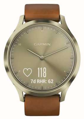Garmin Vivomove hr premium activity tracker gold / leather 010-01850-05