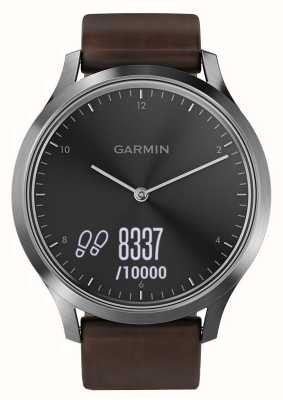 Garmin Vivomove hr premium activity tracker steel / leather 010-01850-04