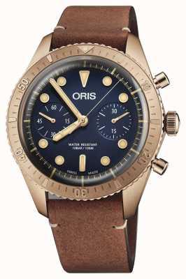 Oris Edición limitada carl brashear bronce cronógrafo 01 771 7744 3185-SET LS