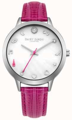 Daisy Dixon Correa de cuero rosa lexi para mujer DD078PS