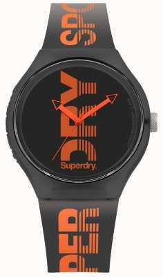 Superdry Negro urbano correa de silicona negra marca SYG189BO