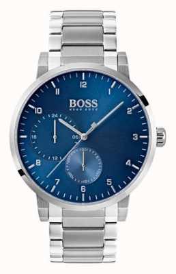 Hugo Boss Reloj para hombre con reloj de oxígeno reloj de pulsera de acero inoxidable con rayos de sol 1513597