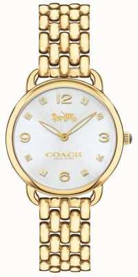 Coach Reloj de pulsera de mujer delancey slim gold tone plateado esfera plateada 14502782