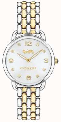 Coach Reloj de pulsera delgado de dos tonos para mujer delancey plateado 14502784