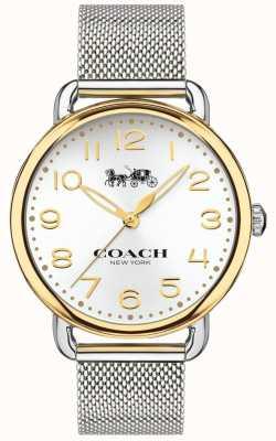 Coach Caja dorada de la pulsera de malla de acero inoxidable delancey para mujer 14502802