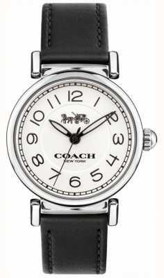Coach Reloj madison para mujer correa de cuero negro esfera blanca 14502860