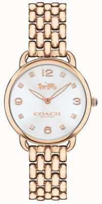 Coach Reloj de pulsera de mujer delancey slim rosa reloj tono plateado 14502783