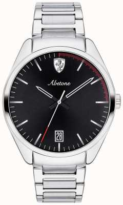Scuderia Ferrari Pulsera hombre abetone acero inoxidable reloj esfera negra 0830502