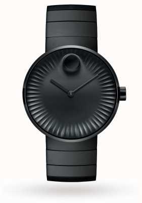 Movado Reloj para hombre con borde de acero chapado en iones negro 3680007