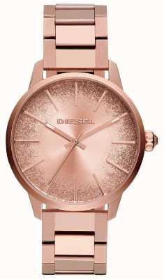 Diesel Reloj castilla con esfera dorada brillante de castilla rosa para mujer. DZ5567