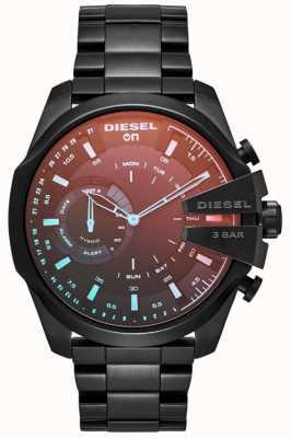 Diesel Pulsera plateada de hierro del smartwatch híbrido de megachief para hombre DZT1011