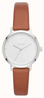 DKNY Womens the modernist watch correa de cuero marrón NY2676