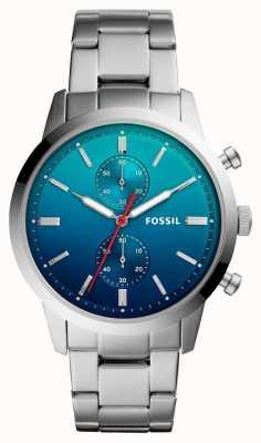 Fossil Reloj para hombre mensuar azul ombre dial brazalete de acero inoxidable FS5434