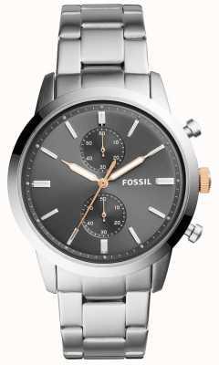 Fossil Reloj de hombre de la localidad reloj pulsera de acero inoxidable gris FS5407