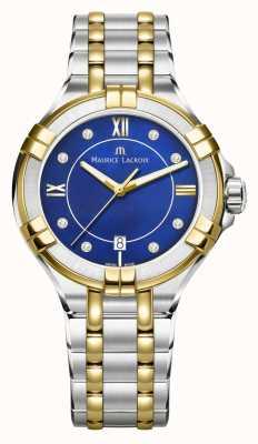 Maurice Lacroix Para mujer aikon 35mm dos tonos acero inoxidable bluedial eléctrico AI1006-PVY13-470-1