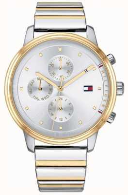 Tommy Hilfiger Reloj de pulsera de dos tonos con cronógrafo blake de hombre plateado 1781908