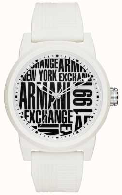 Armani Exchange Correa de silicona para hombre atlc AX1442