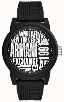 Armani Exchange Correa de silicona para hombre atlc AX1443