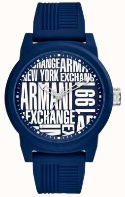 Armani Exchange Correa de silicona para hombre atlc AX1444