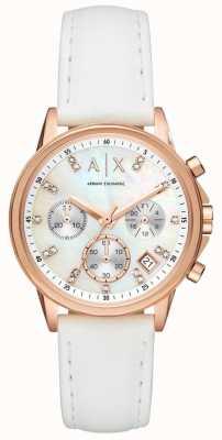 Armani Exchange Correa de cuero de señora lady banks AX4364
