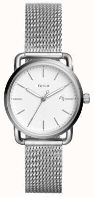 Fossil Para mujer, la correa de acero inoxidable 3h fecha de viaje ES4331