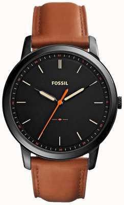 Fossil Mens la correa de cuero minimalista 3h FS5305