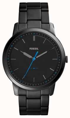 Fossil Mens la correa minimalista de acero inoxidable 3h FS5308