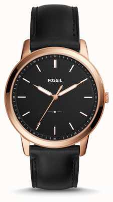 Fossil Para hombre la correa de cuero minimalista FS5376