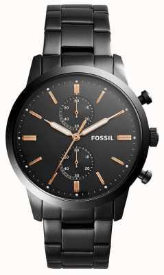 Fossil Correa para hombre de acero inoxidable para hombre de 44 mm FS5379