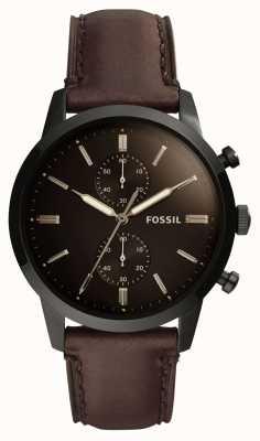 Fossil Correa de cuero para hombre de 44 mm para hombre FS5437