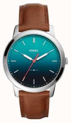 Fossil Mens la correa de cuero minimalista 3h FS5440