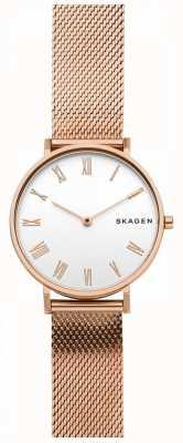 Skagen Correa de malla dorada rosa para mujer SKW2714