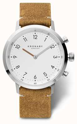 Kronaby 41 mm de cuero de gamuza nord brown acero inoxidable a1000-3128 S3128/1