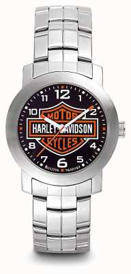 Harley Davidson Pulsera con logo de acero inoxidable para hombre 76A019