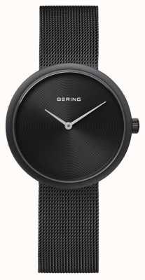 Bering Correa de malla negro mate negro clásico 14333-222