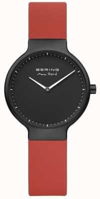 Bering Estuche y esfera marca Max René color rojo con correa negra 15531-523