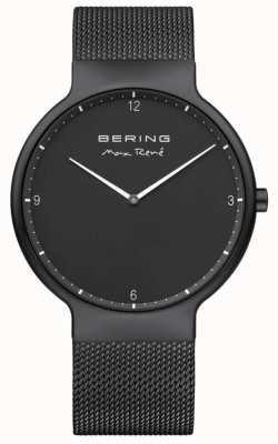 Bering Marcadores de esfera blanca con marcación negra de Max René correa de malla con malla de IP negro 15540-123