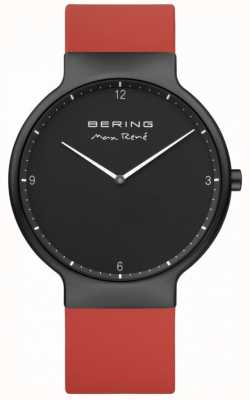 Bering Correa de silicona roja con correa de silicona negra de Max René 15540-523